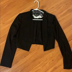 White House Black Mart Cropped tuxedo blazer
